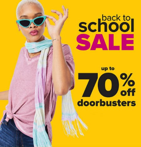 Up to 70% Off Back to School Sale from Belk
