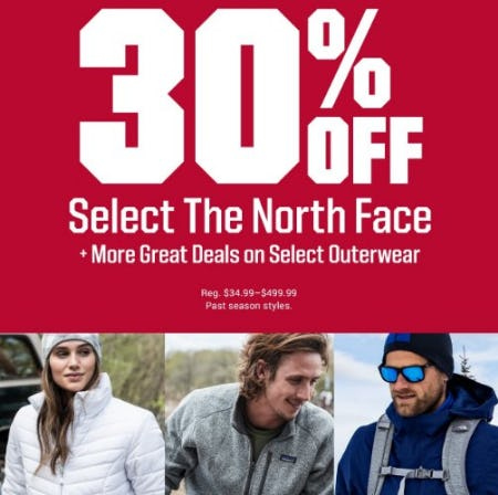 30% Off Select The North Face from Dick's Sporting Goods