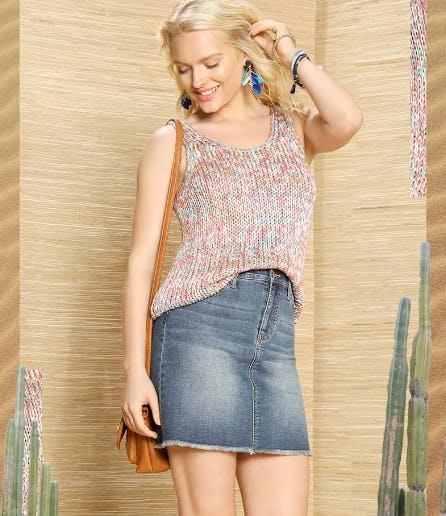 The Denim Mini Skirt from Versona Accessories