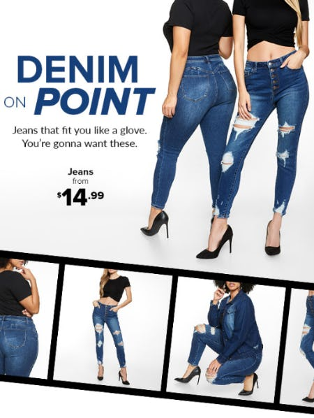 Jeans from $14.99 from Rainbow