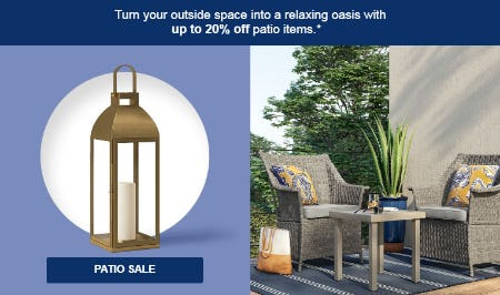 Up to 20% Off Patio Sale from Target