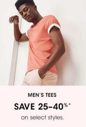 Men's Tees Save 25-40%