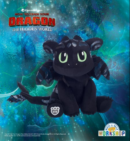 Dragon Alert! Special Edition Hidden World Toothless Has Flown In! from Build-A-Bear Workshop