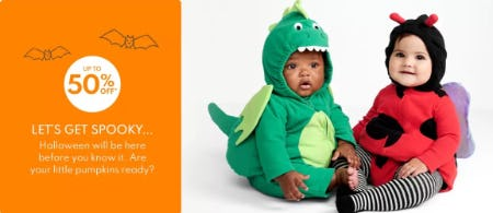Up to 50% Off Halloween from Carter's