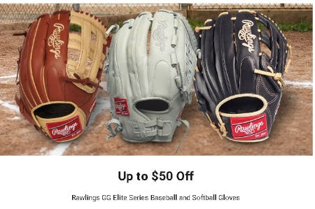 Up to $50 Off Rawlings GG Elite Series Baseball and Softball Gloves