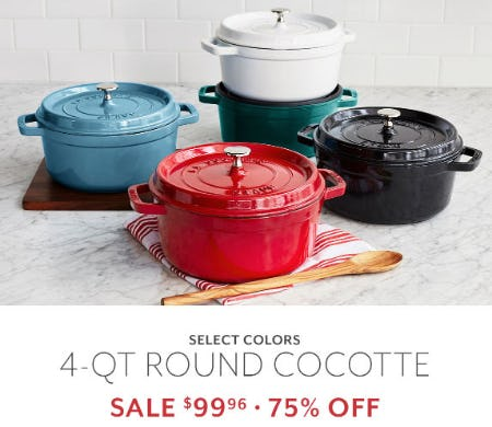 75% Off 4-Qt Round Cocotte from Sur La Table