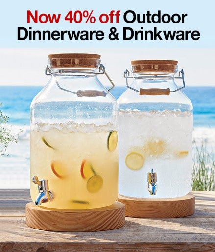 Now up to 40% Off Outdoor Dinnerware & Drinkware from Crate & Barrel