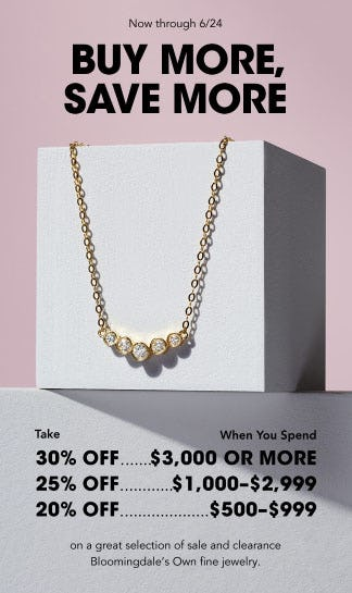 Buy More, Save More Fine Jewelry