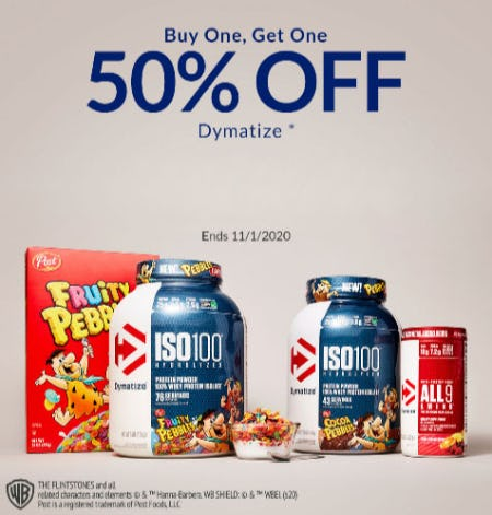 BOGO 50% Off Dymatize from The Vitamin Shoppe