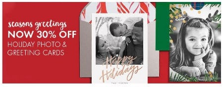 30% Off Holiday Photo & Greeting Cards from Paper Source