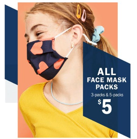 $5 All Face Mask Packs from Old Navy