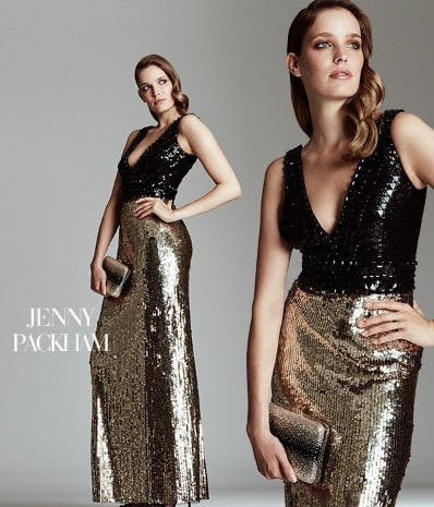 Sequined & Beaded V-Neck Gown from Saks Fifth Avenue