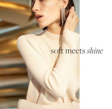 Soft Meets Shine from Club Monaco