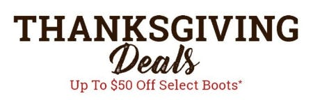 Up to $50 Off Select Boots from Boot Barn