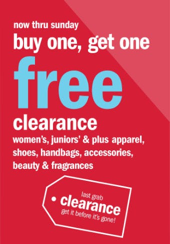 BOGO Free Clearance from Gordmans