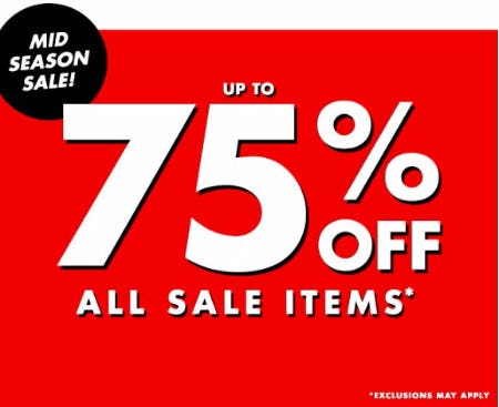 Mid Season Sale up to 75% Off