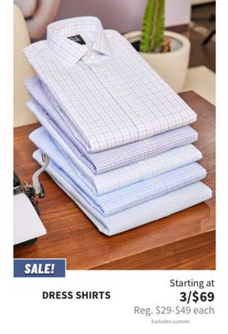 Dress Shirts Starting at 3 for $69 from Jos. A. Bank