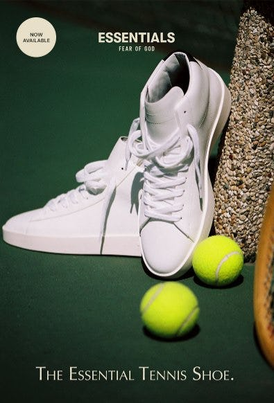 Just Dropped: The New FOG Essentials Tennis Shoe