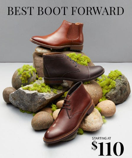 Step Out in New Boots this Season from Jos. A. Bank