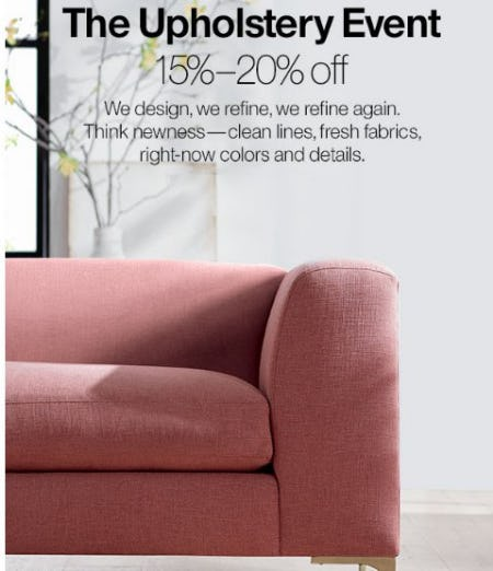 The Upholstery Event 15%-20% Off