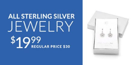$19.99 All Sterling Silver Jewelry from Charming Charlie