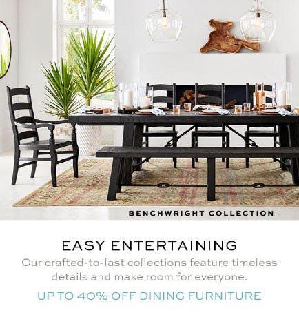 Up to 40% Off Dining Furniture from Pottery Barn