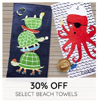 30% Off on Select Beach Towels from Pottery Barn Kids