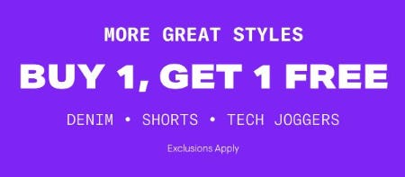 B1G1 Free Denim, Shorts & Tech Joggers from Aéropostale