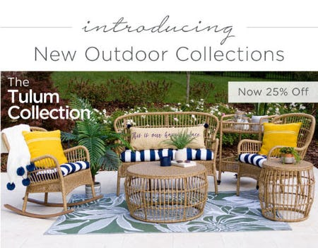 25% Off New Outdoor Collections from Kirkland's