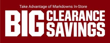 Big Clearance Savings
