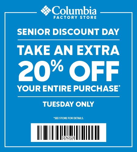 Senior Discount Day