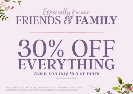 francesca's® Friends & Family Event from francesca's