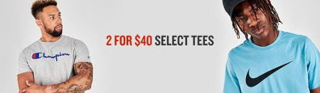2 for $40 Select Tees from Finish Line