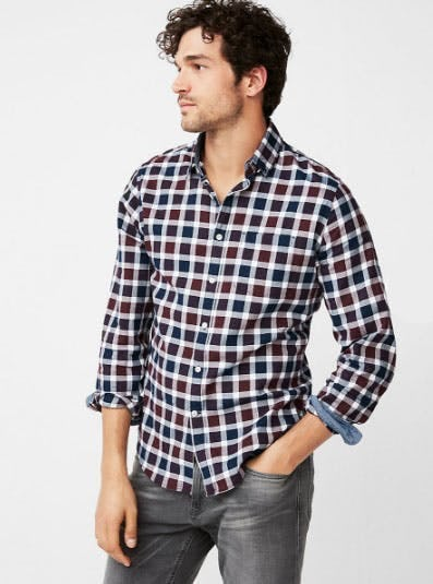 Soft Wash Plaid Cotton Shirt