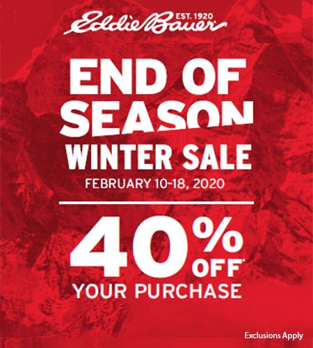President's Day Sale from Eddie Bauer