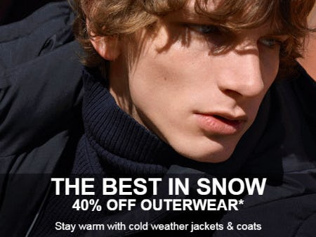 40% Off Outerwear from Lacoste