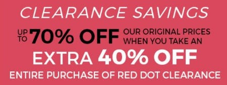 Clearance Savings up to 70% Off from Stein Mart