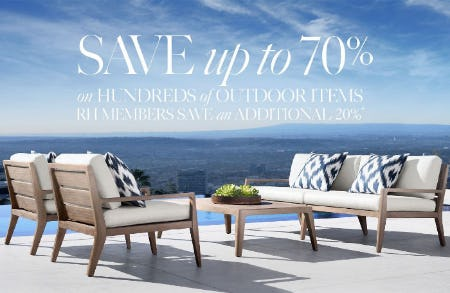 Up to 70% Off Outdoor Items from Restoration Hardware