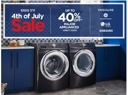 Up to 40% Off Major Appliances from JCPenney