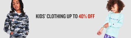 Kids' Clothing Up to 40% Off from JD Sports
