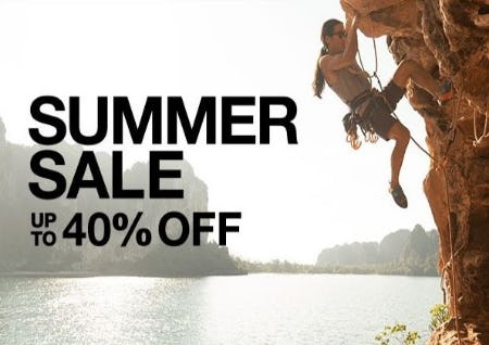 Summer Sale up to 40% Off from The North Face
