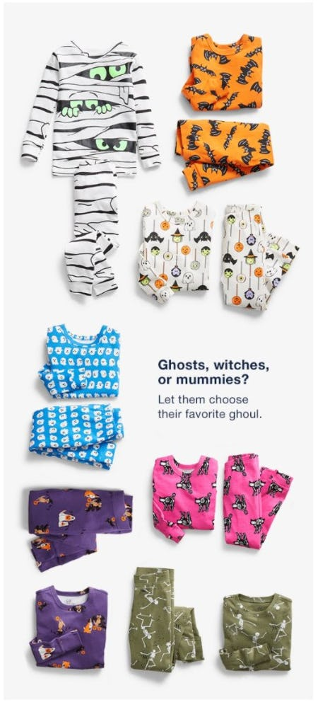 Spooky Halloween PJs from Gap