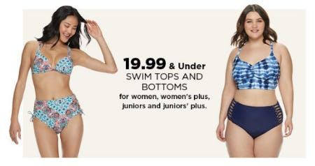 $19.99 & Under Swim Tops and Bottoms from Kohl's