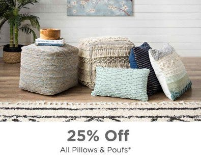 25% Off All Pillows & Poufs from Kirkland's