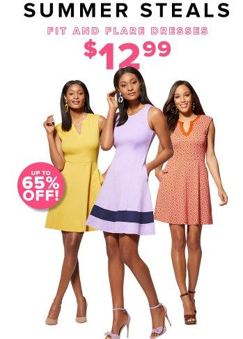 Fit and Flare Dresses $12.99