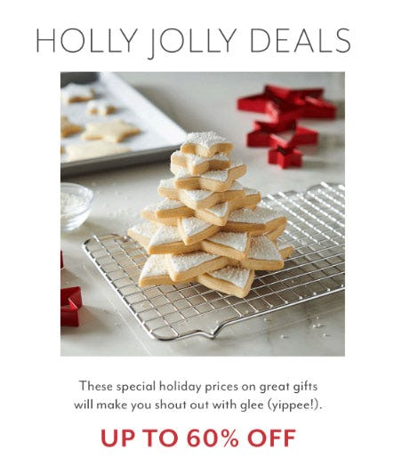 Up to 60% Off Holly Jolly Deals from Sur La Table