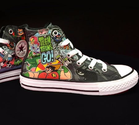 teen titans converse sneakers