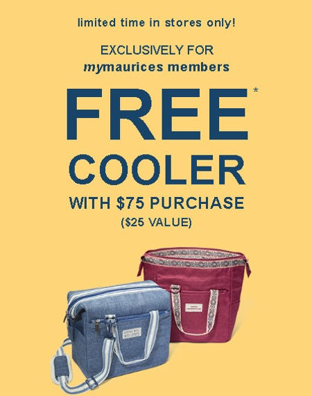Free Cooler With $75 Purchase from maurices