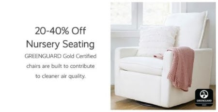 20–40% Off Nursery Seating from Pottery Barn Kids