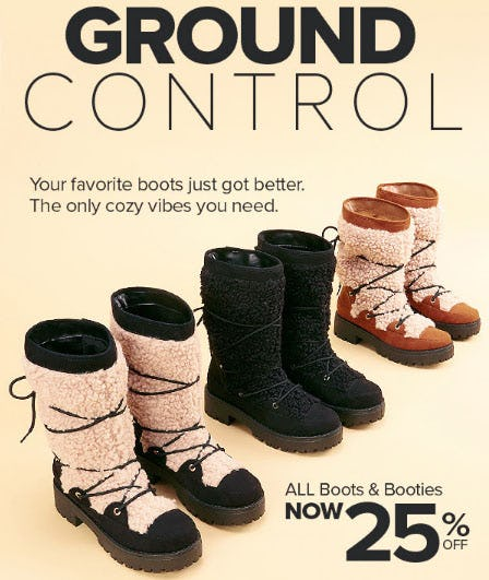 All Boots & Booties Now 25% Off